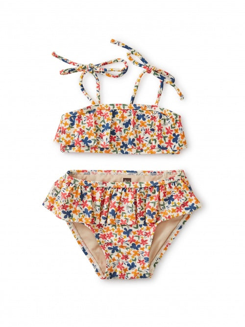 Tea Collection Baby Ruffle Bikini Set - Cyprus Floral