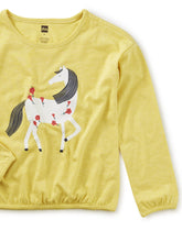 Load image into Gallery viewer, Tea Collection Horse Graphic Top