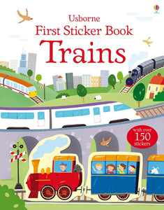 First Sticker Book: Trains - Usborne