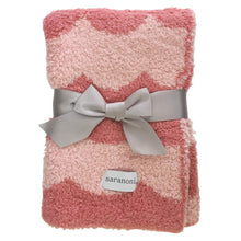 Load image into Gallery viewer, Saranoni Double-Layer Bamboni Receiving Blanket - Pink Scallop