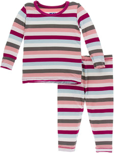 KicKee Pants Long Sleeve Pajama Set Geology Stripe