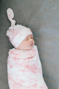 Copper Pearl Knit Swaddle Blanket - Roxy
