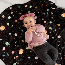 Load image into Gallery viewer, Loulou Lollipop Muslin Swaddle Blanket - Planets