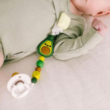 Load image into Gallery viewer, Loulou Lollipop Darling Pacifier Clip - Avocado