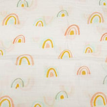 Load image into Gallery viewer, Loulou Lollipop Muslin Swaddle Blanket - Pastel Rainbow
