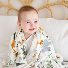 Load image into Gallery viewer, Loulou Lollipop Muslin Swaddle Blanket - Safari Jungle