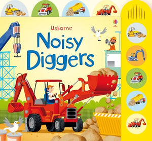 Noisy Diggers (Busy Sounds Board Book) - Usborne