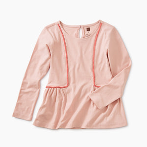 Tea Collection Pom Pom Knit Top - Apple Blossom