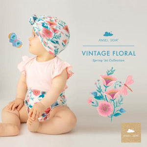 Angel Dear Onesie and High Waisted Short Set - Vintage Garden