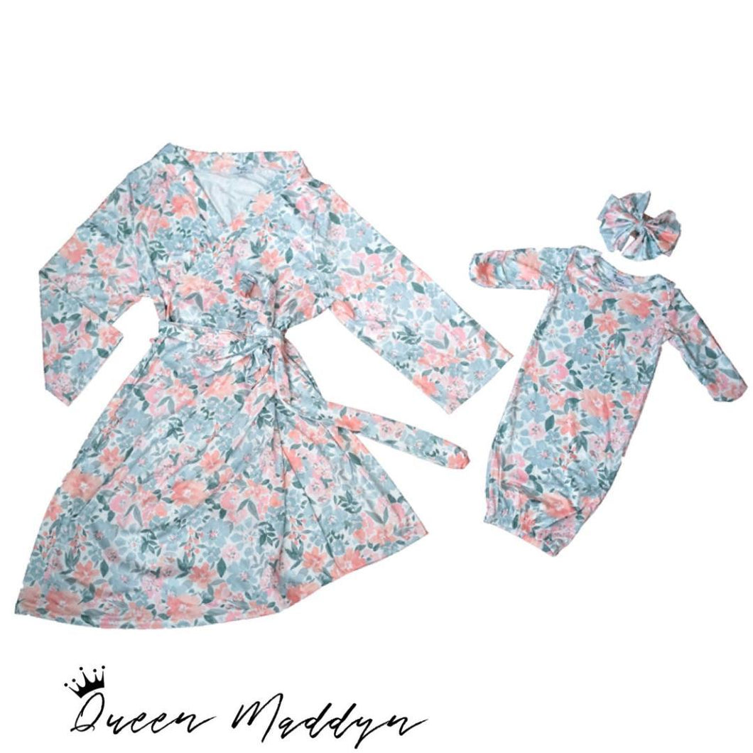 Queen Maddyn Mommy & Baby Gift Set - Addyson Floral