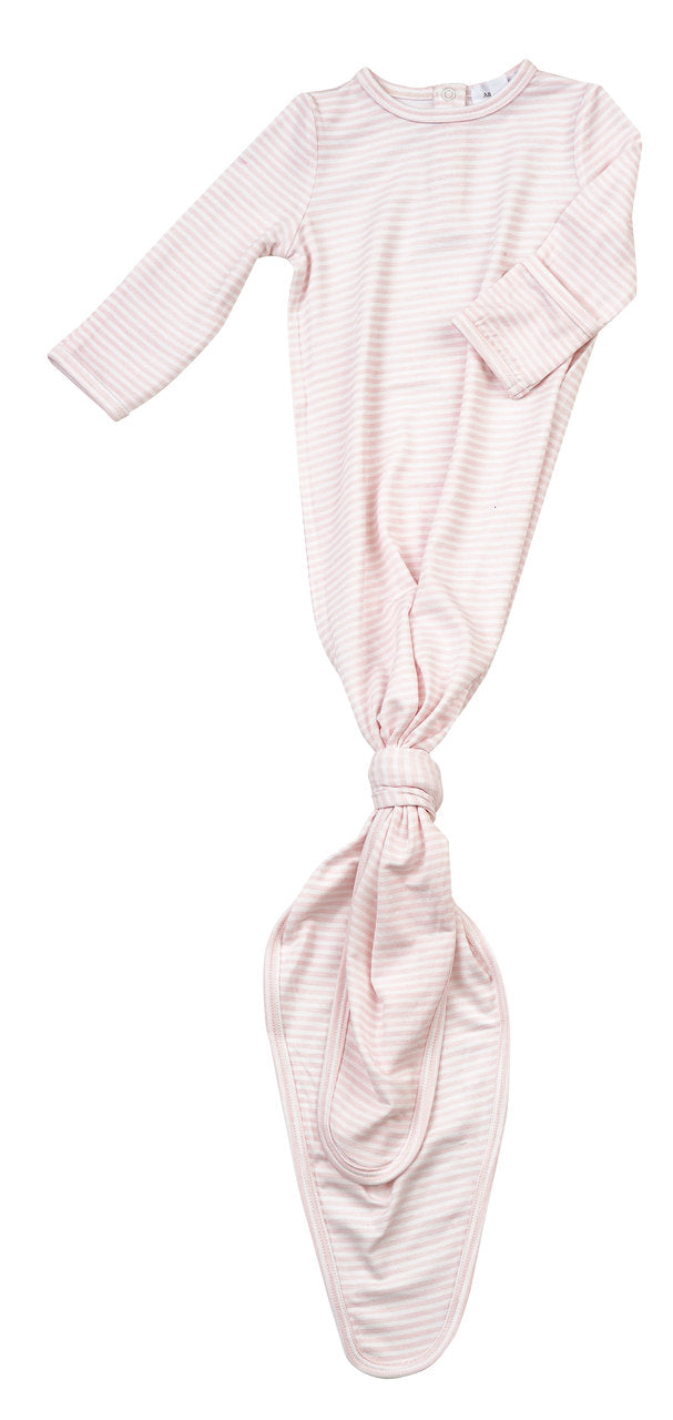 Angel Dear Knotted Gown - Pink Stripes