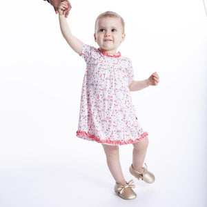 Modal Magnetic Dress and Diaper Cover - Beatrix Floral