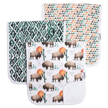 Load image into Gallery viewer, Copper Pearl Single Burp Cloth - Bison