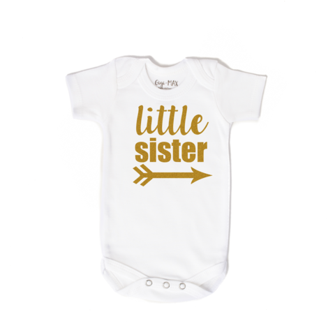 Gigi and Max Little Sister Newborn Onesie