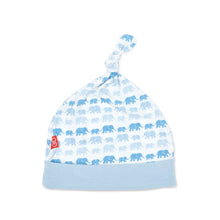 Load image into Gallery viewer, Magnetic Me Modal Hat - Blue Dancing Elephants
