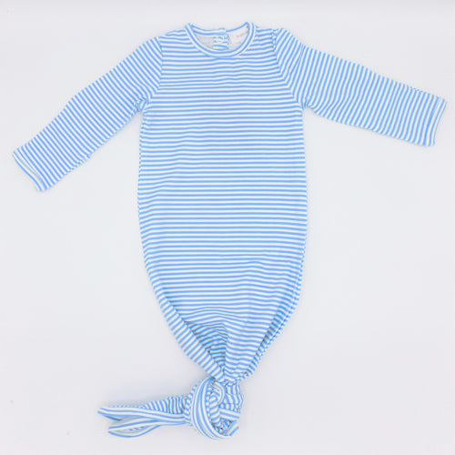 Angel Dear Knotted Gown - Blue Stripes