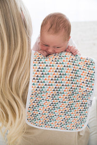 Copper Pearl Single Burp Cloth - Bison