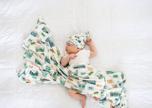 Copper Pearl Knit Swaddle Blanket - Bruno