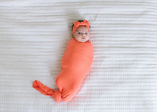 Load image into Gallery viewer, Copper Pearl Knit Swaddle Blanket - Stella