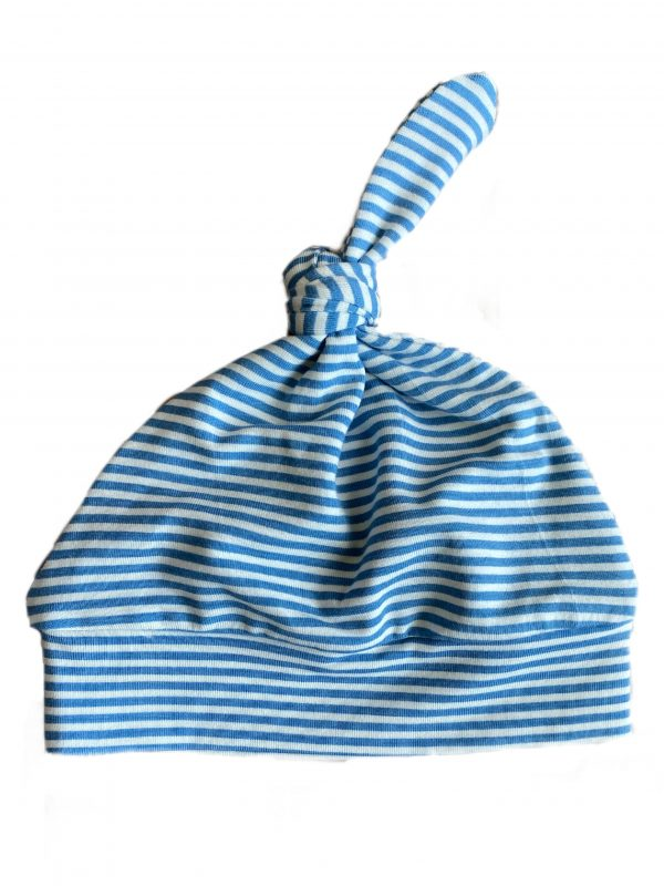 Angel Dear Knotted Hat - Blue Stripes