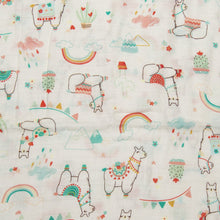 Load image into Gallery viewer, Loulou Lollipop Muslin Swaddle Blanket - Llama