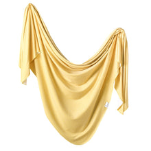Load image into Gallery viewer, Copper Pearl Knit Swaddle Blanket - Marigold