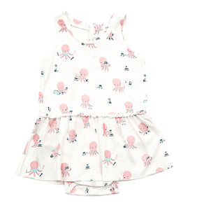 Angel Dear Onesie with Skirt - Octopus Playtime Pink