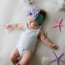 Load image into Gallery viewer, Baby Bling Printed FAB-BOW-LOUS Headband - Mermaid