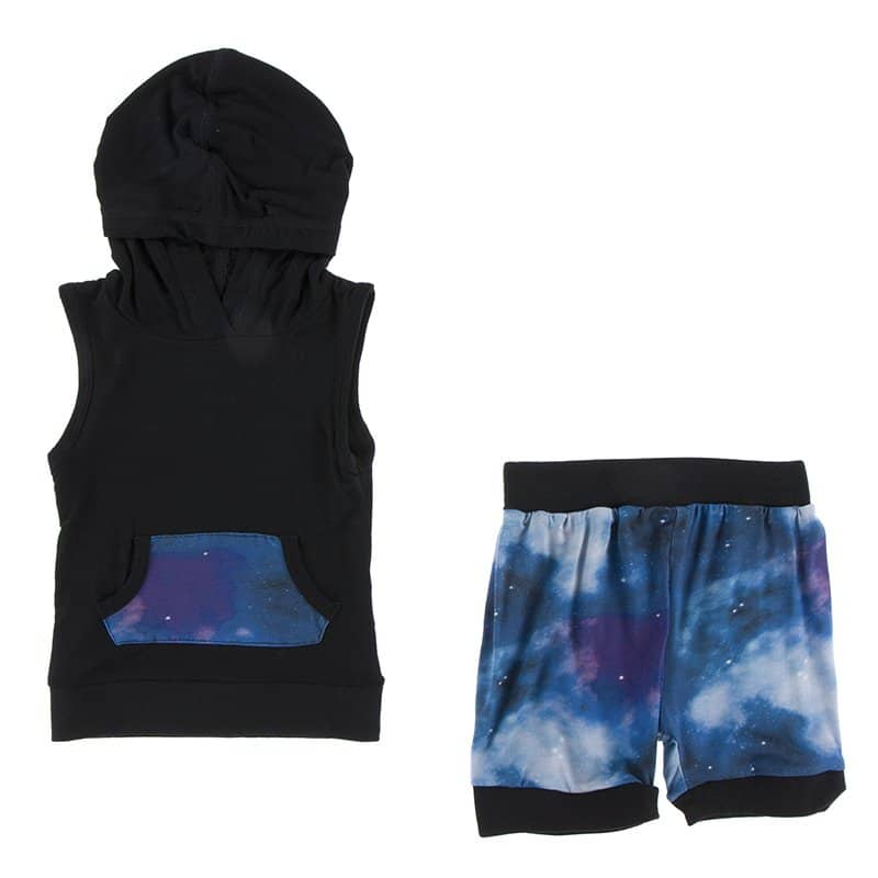 KicKee Pants Hoodie Tank Outfit Set Wine Grapes Galaxy