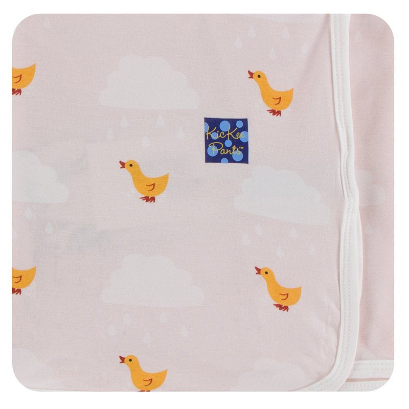 KicKee Pants Swaddling Blanket Macaroon Puddle Duck