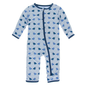 KicKee Pants Coverall with Zipper Pond Angler Fish