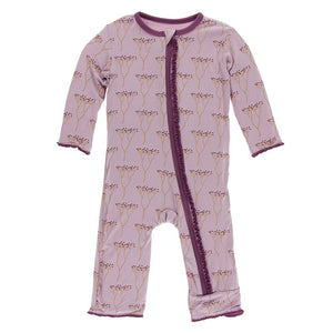 KicKee Pants Ruffle Coverall with Zipper Cooksonia