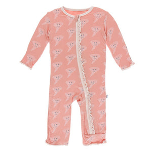 KicKee Pants Ruffle Coverall with Zipper Blush Happy Tornado