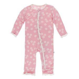 KicKee Pants Ruffle Coverall with Zipper Lotus Sand Dollar
