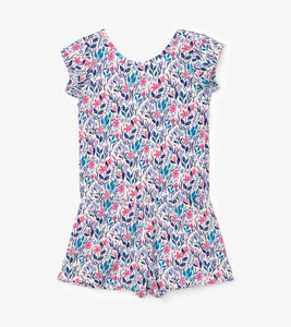 Hatley Spring Wildflowers Faux Dress Romper