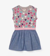 Load image into Gallery viewer, Hatley Multicolour Hearts Elastic Waist Dress