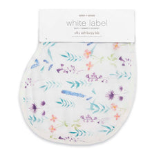 Load image into Gallery viewer, Aden and Anais Silky Soft Muslin Burpy Bib - Watercolor Garden-Posy