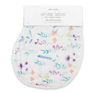 Aden and Anais Silky Soft Muslin Burpy Bib - Watercolor Garden-Posy