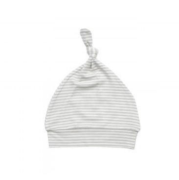 Angel Dear Knotted Hat - Grey Stripes
