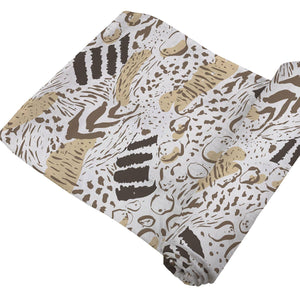 Newcastle Classics Bamboo Muslin Swaddle Blanket - Animal Print
