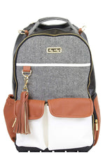 Load image into Gallery viewer, Itzy Ritzy Boss Backpack Diaper Bag - Coffee & Cream