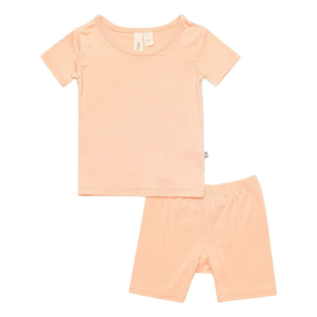 Kyte Short Sleeve Toddler Pajama Set - Papaya