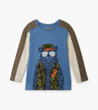 Load image into Gallery viewer, Hatley Camo Bear Long Sleeve Preppy Tee