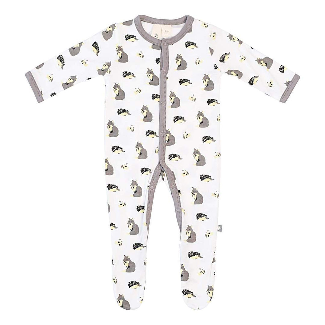 Kyte Baby Printed Footie with Snaps - Woodland