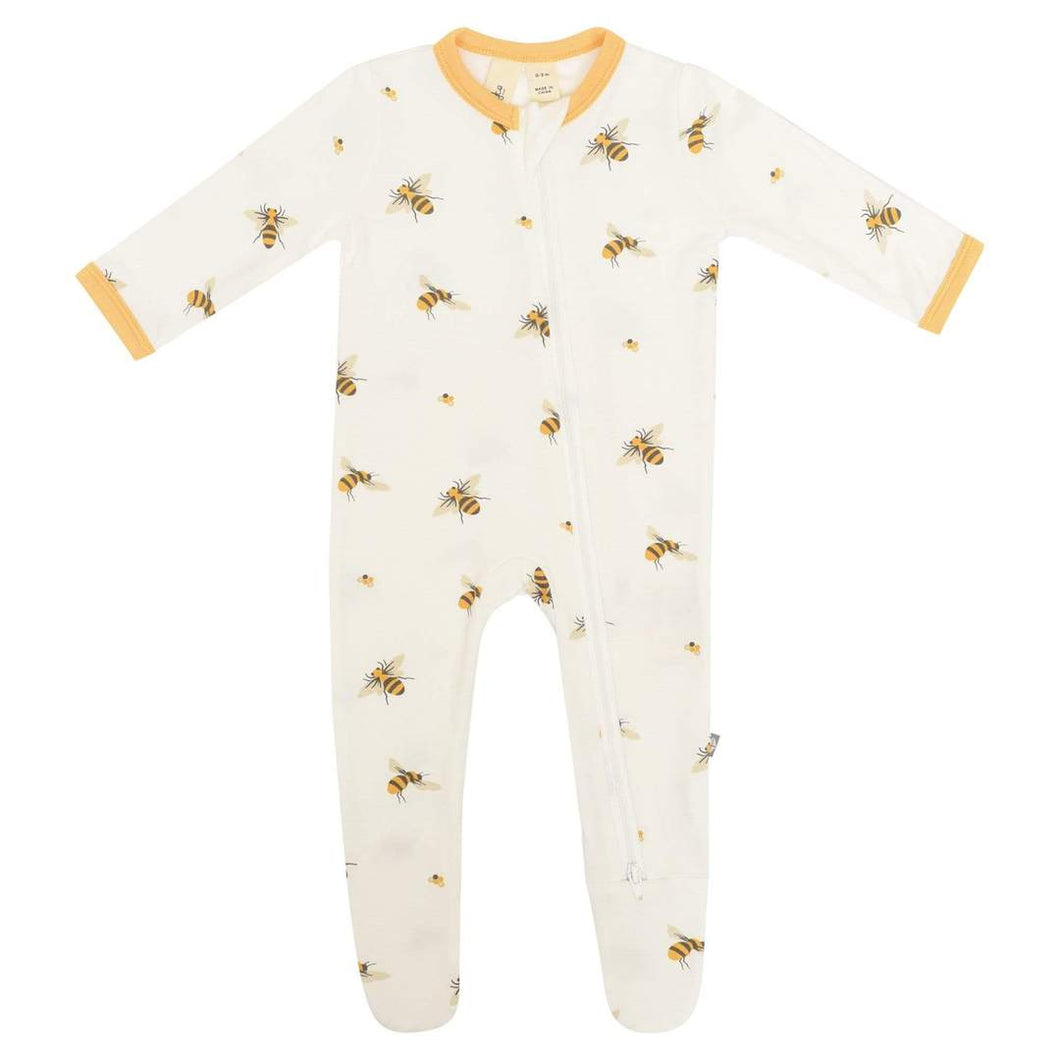 Kyte Baby Printed Zippered Footie - Buzz