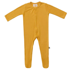 Kyte Baby Footie with Snaps - Mustard