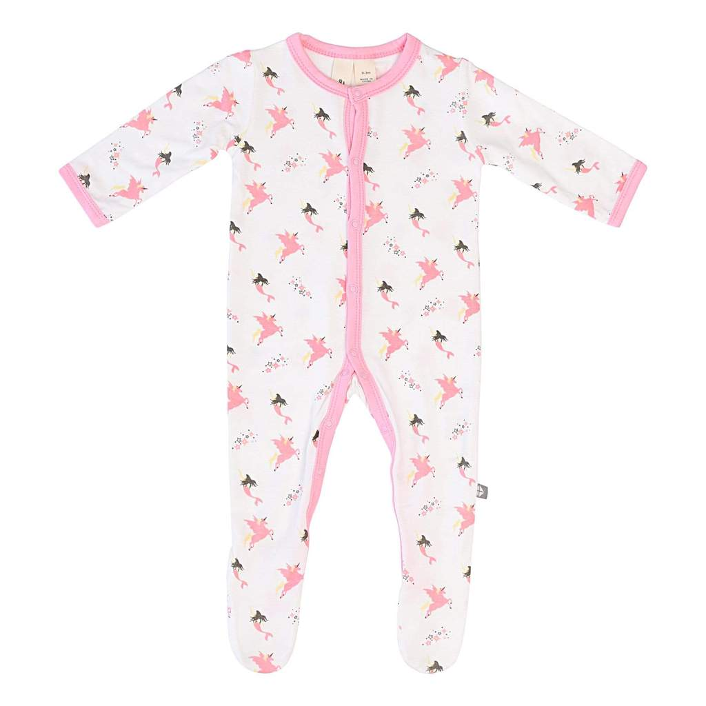 Kyte Baby Printed Footie with Snaps - Mythical