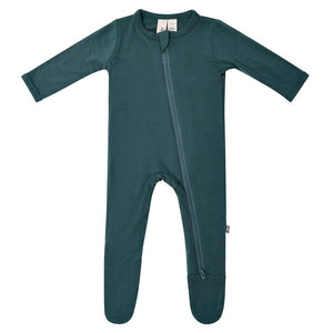 Kyte Baby Zippered Footie - Emerald