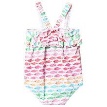 Load image into Gallery viewer, Hatley Watercolor Fishies Baby Ruffle Swimsuit