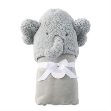 Load image into Gallery viewer, Mud Pie Baby Hooded Towel - Elephant